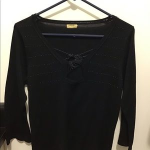 Black beaded sweater